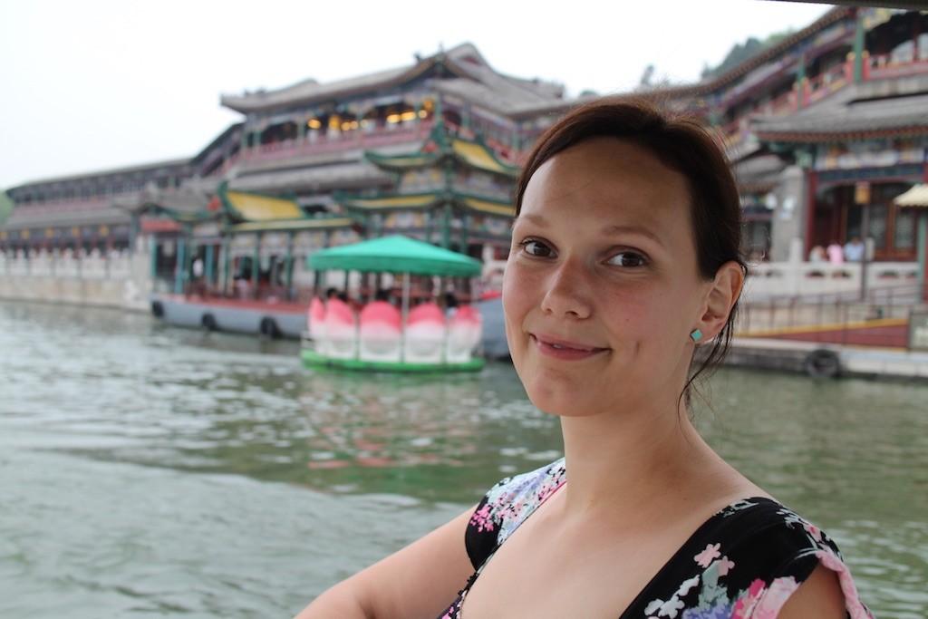 1508 dag 2 Lena på båt